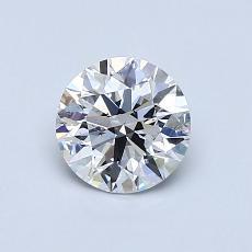 0,77-Carat Round Diamond Ideal D SI1