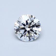 0.54 Carat 圆形 Diamond 理想 D VVS2