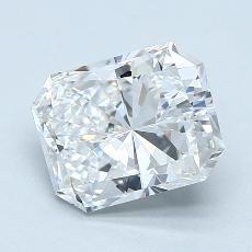 Pierre recommandée n°3: Diamant taille radiant 2,22 carats
