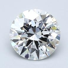 2.02-Carat Round Diamond Ideal F SI1