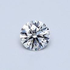 0.40 Carat 圓形 Diamond Astor 理想 E VVS2