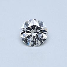 Piedra recomendada 2: Diamante de talla redonda de 0.30 quilates