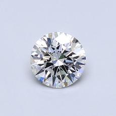 0,60-Carat Round Diamond Ideal G VS2