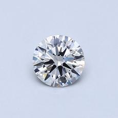 0.40-Carat Round Diamond Ideal I VS1