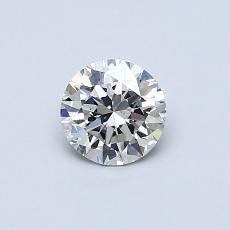 0.50 Carat 圆形 Diamond 理想 G VS1