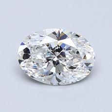 目标宝石:0.90克拉椭圆形切割钻石