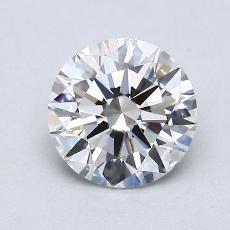 1.03-Carat Round Diamond Ideal H IF