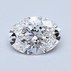 1.00-Carat Oval Diamond Very Good F VVS2