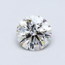 0.60-Carat Round Diamond Ideal J SI1