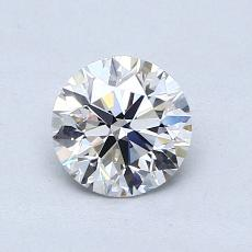 0,75-Carat Round Diamond Ideal E VVS2