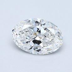 0.70-Carat Oval Diamond Very Good E VVS2
