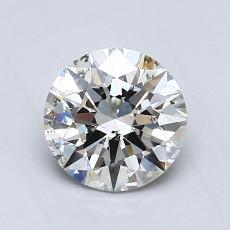 0,80-Carat Round Diamond Ideal I SI2