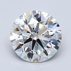 2.00-Carat Round Diamond Ideal E VVS2
