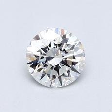 0,71 Carat Rond Diamond Idéale E IF