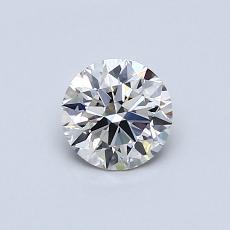 0.52-Carat Round Diamond Ideal I VS1