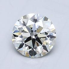 0.90-Carat Round Diamond Ideal I VVS2