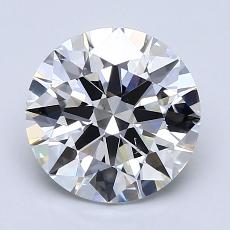 2.01-Carat Round Diamond Ideal D VS2