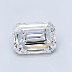 0.90-Carat Emerald Diamond Very Good E VS1