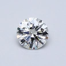 0.50 Carat 圆形 Diamond 理想 F VS1