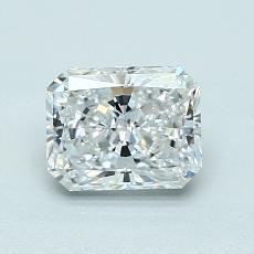 1.01-Carat Radiant Diamond Very Good D VVS2