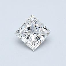 0.50-Carat Princess Diamond Very Good F VVS1