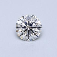 0.40-Carat Round Diamond Ideal E VS1