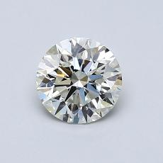 Pierre actuelle: Taille ronde, 0,72carats