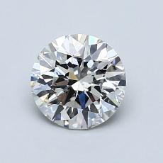 1.00-Carat Round Diamond Ideal H SI2