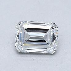 0.80-Carat Emerald Diamond Very Good D VVS2