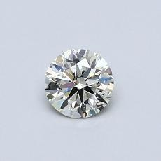 Pierre actuelle: Taille ronde, 0,40carats