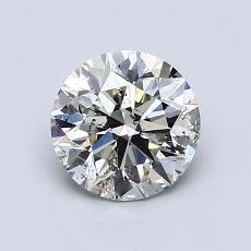 1.00 Carat 圆形 Diamond 理想 I SI2