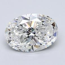 1.51 Carat 椭圆形 Diamond 非常好 E VS2
