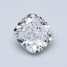 1.00-Carat Cushion Diamond Very Good D VS2