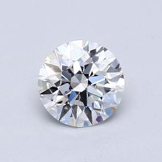 0.75 Carat 圓形 Diamond 理想 E VVS2