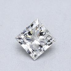 0.50-Carat Princess Diamond Very Good F VVS2
