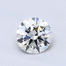 0.80 Carat Redondo Diamond Ideal E VVS2