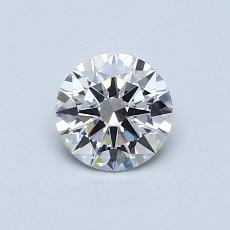 0.51-Carat Round Diamond Ideal F VS2