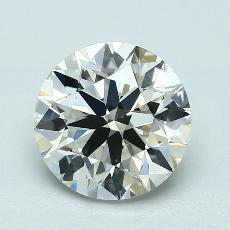 2.50-Carat Round Diamond Ideal K VVS2