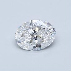 0.55 Carat 椭圆形 Diamond 非常好 D VVS2