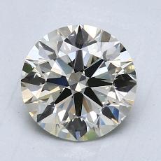 1.50-Carat Round Diamond Ideal K VVS2