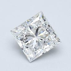 Current Stone: 1.01-Carat Princess Cut