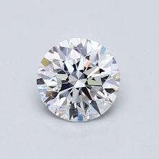 0.73-Carat Round Diamond Ideal D VVS2