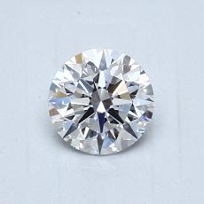 0,70-Carat Round Diamond Ideal D VVS2