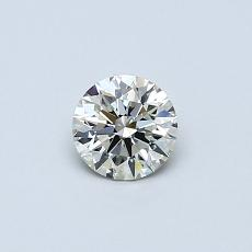 0.35 Carat ラウンド Diamond アイデアル K VVS2