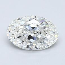 1,00-Carat Oval Diamond Very Good G VS2