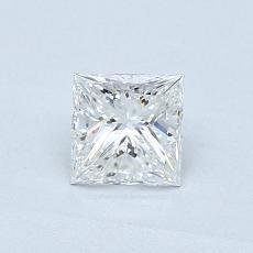 0.50 Carat 公主方形 Diamond 非常好 F VVS2