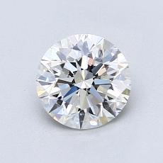 1.00-Carat Round Diamond Ideal F VS1
