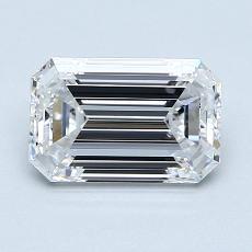 1.20-Carat Emerald Diamond Very Good D VS1