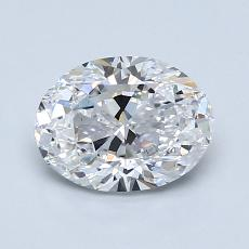 1.20-Carat Oval Diamond Very Good D VS2