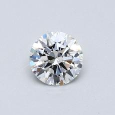 0.50 Carat Redondo Diamond Ideal G VVS1